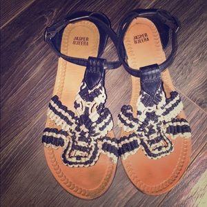Anthro Jasper & Jeera sandals, 8!